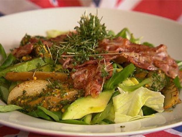 Englischer Salat mit Speck und Birnen - Rezept