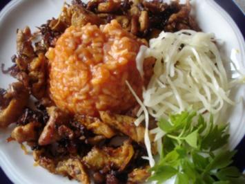 Giros mit Djuvec-Reis und Krautsalat - Rezept