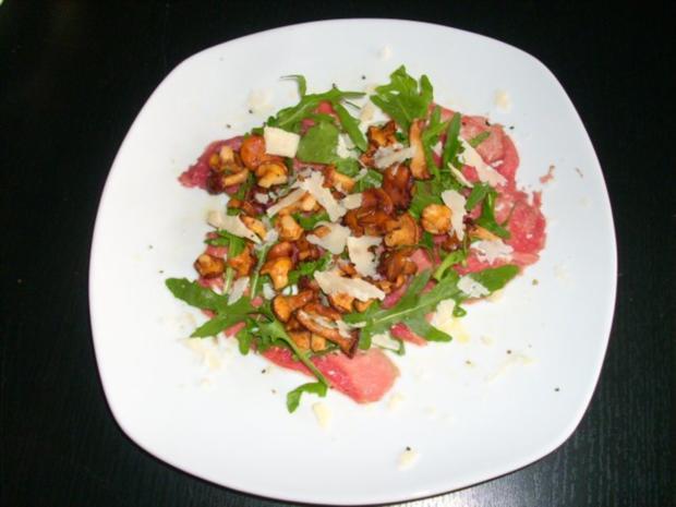 Carpaccio mit Pfifferlingen - Rezept