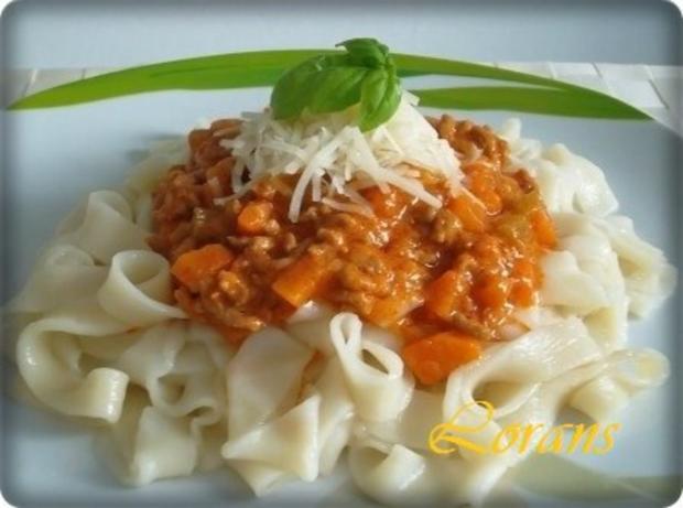 ❈ Selbstgemachte Bandnudeln mit Bolognese-Sause und Parmesankäse ❈ - Rezept - Bild Nr. 20