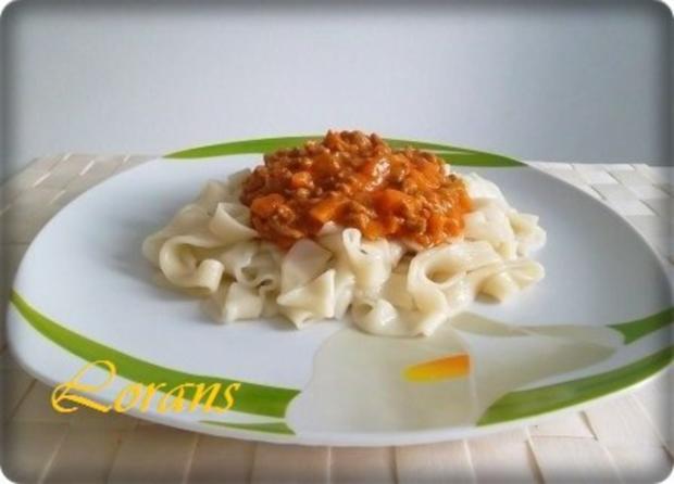 ❈ Selbstgemachte Bandnudeln mit Bolognese-Sause und Parmesankäse ❈ - Rezept - Bild Nr. 18