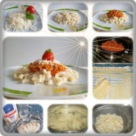 ❈ Selbstgemachte Bandnudeln mit Bolognese-Sause und Parmesankäse ❈ - Rezept - Bild Nr. 2