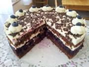 "Torte ""Schwarzwälder Art"" mit Blaubeeren - Rezept"