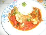 Hendl mit Paradeisern (Tomaten) und Pilzen - Rezept