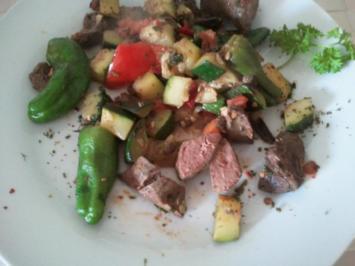 Leber-Party mit jungem, frischem und scharfen Gemüse - Rezept