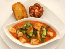 Gazpacho mit Croutons - Rezept