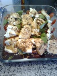 Tomaten und Mozzarella und Basilikum - Rezept