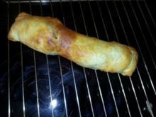 Schweinefilet in Blätterteig mit Zucchini-Kartoffelauflauf - Rezept