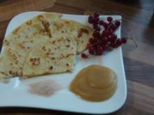 Pfannkuchen mit Zimt,Zucker und Apfelmark - Rezept
