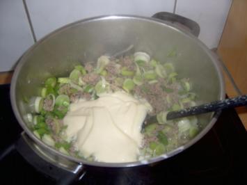 """Suppe: Lauchcremesuppe """"Parmesan"""" - Rezept"""