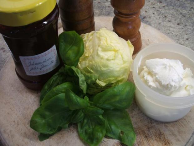 Frischkäse: Salat und Johannisbeergelee - Rezept - Bild Nr. 3