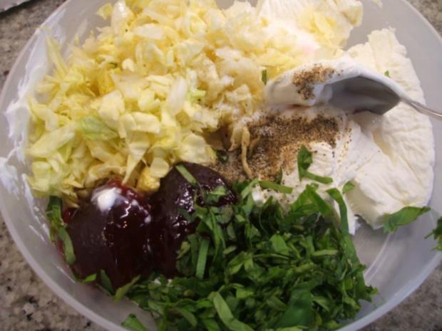 Frischkäse: Salat und Johannisbeergelee - Rezept - Bild Nr. 4