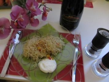 Gebratene Mie Nudeln mit Gemüse - Rezept