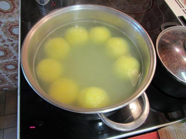 Gefüllte Kartoffelklöße mit Pfälzer – Leberwurst - Rezept - Bild Nr. 8