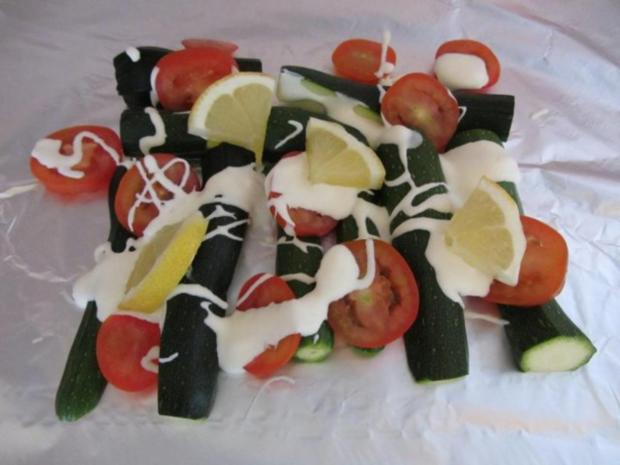 Gegrillte Mini – Zucchini mit Krebsfleisch - Rezept - Bild Nr. 6