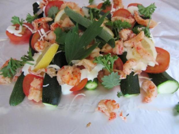 Gegrillte Mini – Zucchini mit Krebsfleisch - Rezept - Bild Nr. 8