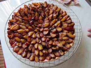 Hefe Kuchen mit Pflaumen - Rezept