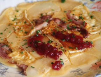 Birnen-Camembert-Pfannkuchen - Rezept
