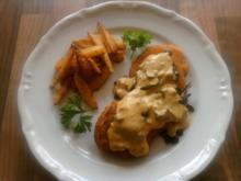 Trappertanische Schnitzel mit Rosemarie-Pommes - Rezept
