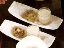 Selleriesuppe mit Kaninchen und Gemüse (Team Frisch) - Rezept