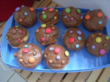 Smartie-Muffins - Rezept