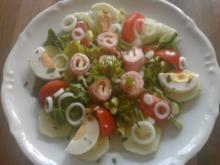 Salat Trapperdioso mit Hausdressing - Rezept