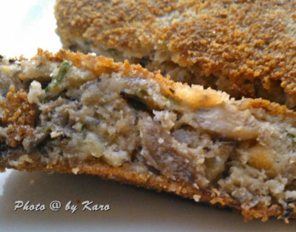 Knuspriges Schnitzel aus gemischten Pilzen - Rezept - Bild Nr. 2
