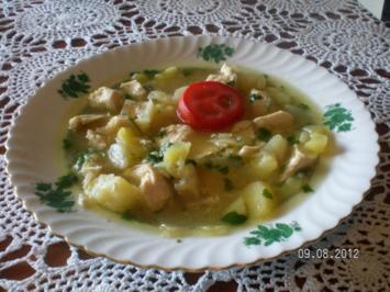Fenchel-Kartoffelsuppe mit Huhn - Rezept