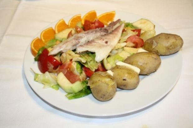 Geräucherte Dorade auf dem Gemüsebett - Rezept