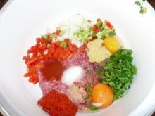 Fleischküchelchen  mit Pepp & Kohlrabi,Salzkartoffel - Rezept
