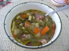 Suppen & Eintöpfe : Bohnen mit geräuchertem Bauchspeck - Rezept