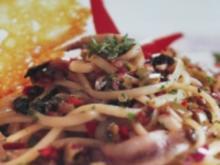 Spaghetti mit Oliven,Sardellen und Honig - Rezept