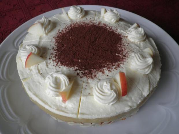 Kleine Apfel - Mascarpone - Torte - Rezept