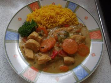 Hot Chicken mit Reis - Rezept