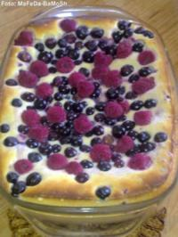 Rezept: Grieß-Quark-Auflauf mit gemischten Beeren