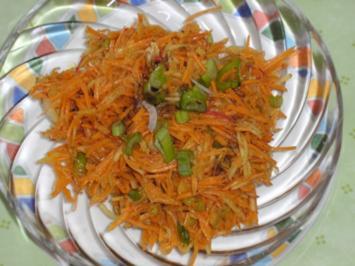 Möhren - Apfel - Rohkost - Rezept