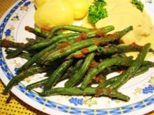 Grüne Bohnen mit Butterbröseln ... - Rezept