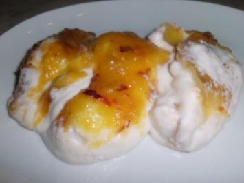 Zitronenquarkcreme mit Nektarinen - Rezept