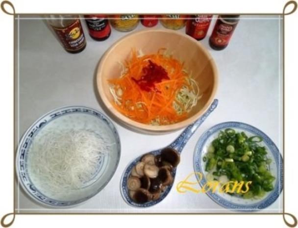 Chinesische Frühlingsrollen mit Hackfleisch - Rezept - Bild Nr. 6
