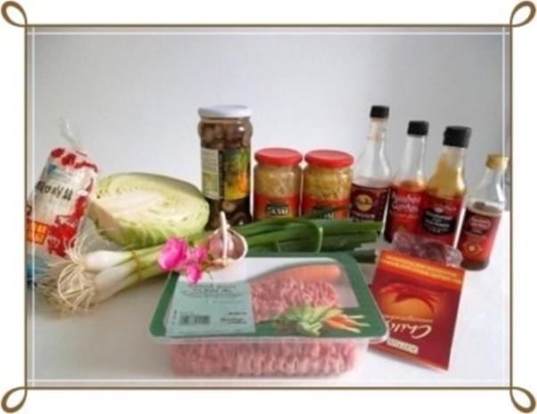 Chinesische Frühlingsrollen mit Hackfleisch - Rezept - Bild Nr. 3