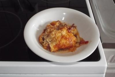 Zucchini, Tomate Hackfleischauflauf - Rezept