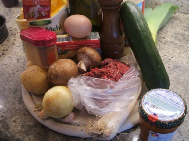Fleisch: Hackfleisch-Torte mit Gemüse für 16er Tortenform - Rezept - Bild Nr. 3