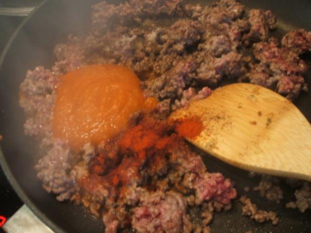 Fleisch: Hackfleisch-Torte mit Gemüse für 16er Tortenform - Rezept - Bild Nr. 9