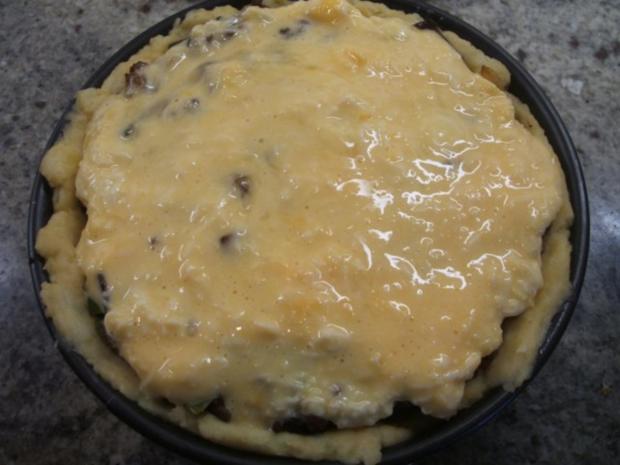 Fleisch: Hackfleisch-Torte mit Gemüse für 16er Tortenform - Rezept - Bild Nr. 14
