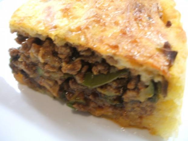 Fleisch: Hackfleisch-Torte mit Gemüse für 16er Tortenform - Rezept - Bild Nr. 2