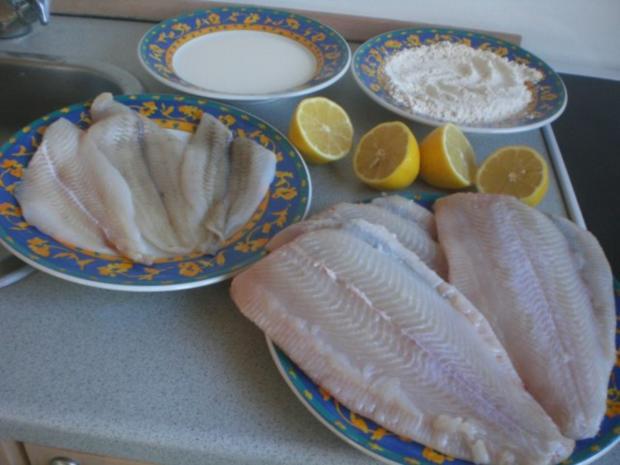 Dänische Fischplatte: Rotzunge und Scholle Müllerin Art mit Currysauce - Rezept - Bild Nr. 5