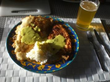 Rezept: Dänische Fischplatte: Rotzunge und Scholle Müllerin Art mit Currysauce