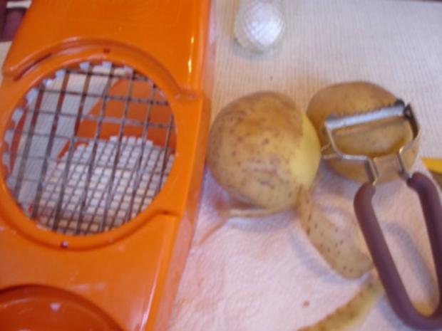 Schweinefiletspieße mit Currysauce und Backofen Pommes frites - Rezept - Bild Nr. 6