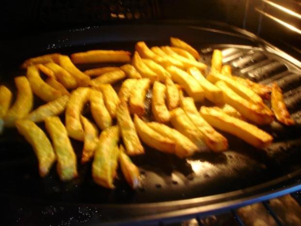 Schweinefiletspieße mit Currysauce und Backofen Pommes frites - Rezept - Bild Nr. 9