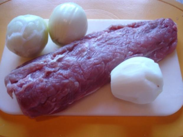 Schweinefiletspieße mit Currysauce und Backofen Pommes frites - Rezept - Bild Nr. 11